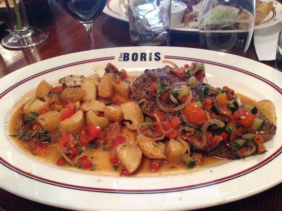 Chez Boris et Leticia : assiette bien garnie