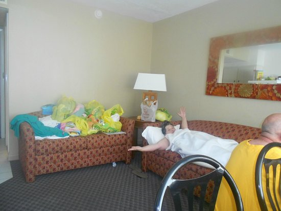 The Crusader Oceanfront Family Resort: room 5 was our home for 5 nights. Great