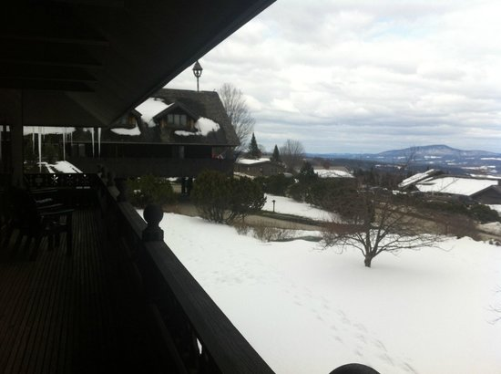 Trapp Family Lodge: View from the room... love the lattice work!