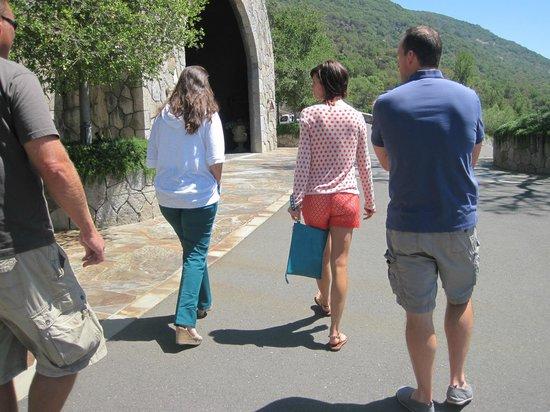 Palmaz Vineyards: walking in