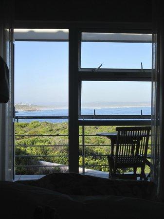 Abalone Guest Lodge : Sicht vom Bett aus
