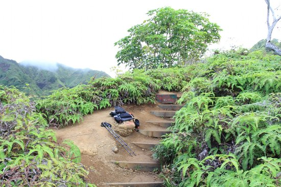 Kuliouou Ridge Hike: Clay steps
