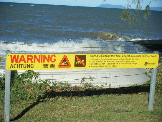Palm Cove Beach : palm beach warning