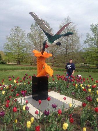 Reiman Gardens: One Of The Lego Displays. Reiman Gardens: Giant Garden Gnome