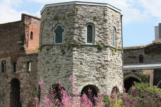 St Bavo's Abbey: Tower at St. Bavo Abbey