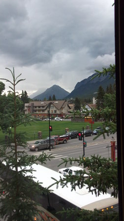Banff International Hotel: View from top floor room