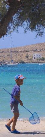 Seaside in front of Apostolis Ouzeri