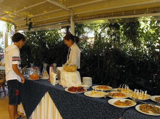 Hotel Maestri: Nelle Domeni estive, aperitivo all'aperto.