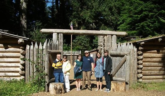 Fort Clatsop National Memorial : Entrance to the Stockade.