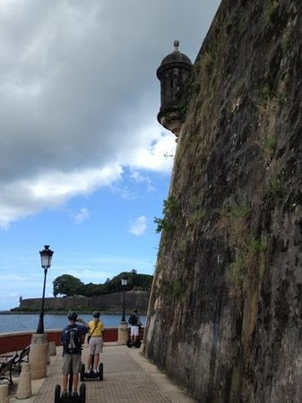 Segway Tours of Puerto Rico: Old San Juan city wall and sentry outpost