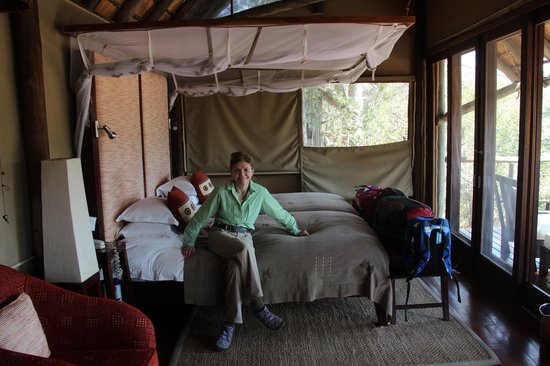 Rhino Walking Safaris at Plains Camp: Our room at Post camp