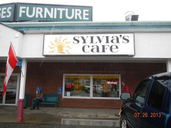 Sylvia's Cafe: exterior sign