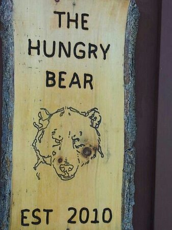 Hungry Bear Restaurant : sign outside the Hungry Bear