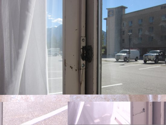 Sandman Hotel Revelstoke: No lock on window!!
