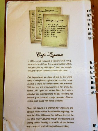 Cafe Laguna: History