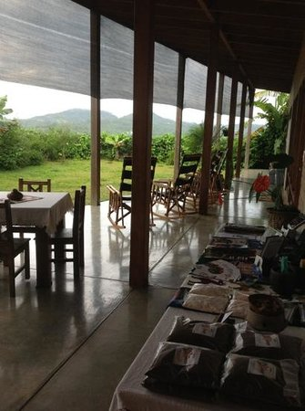 Casa Amanecer B&B: veranda, Casa Amanecer, WOW, how's this for a view?