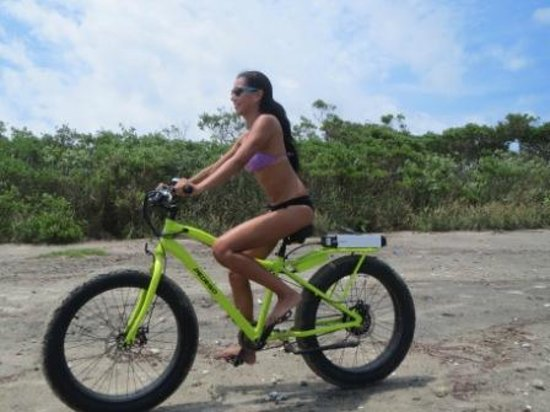 Bibi with her new bike from Playa Bike, a gift for her 15th ...