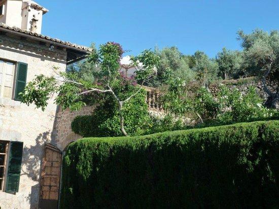 Boutique Hotel & Restaurant Ca's Xorc: Terrasse Zimmer Nr. 3 vom Garten aus