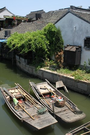 Xitang Ancient Town: Small boats in the canal