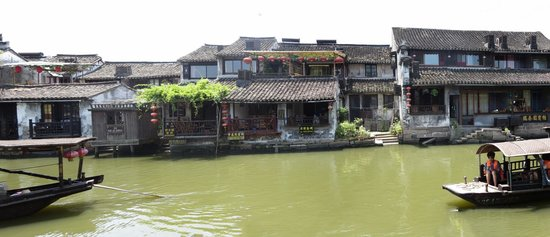 Xitang Ancient Town: Frontage along the canal