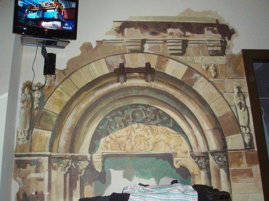Hotel Hospederia Fernando I: Mural de la habitación