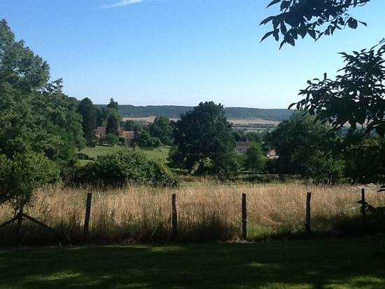 Le Clos Dormont: view from the backyard