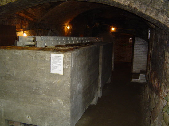 Reigate Caves Tunnel Road: emergency water tanks for public shelter WW2