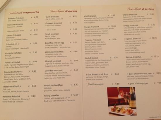 Fingerlos: menu