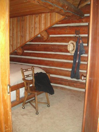 Red Horse Mountain Ranch : guest room is log cabin style