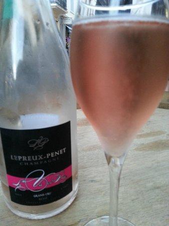 La bulle doree: Rose champagne