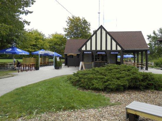 menu- $9 pretzel is HUGE - Picture of Estabrook Beer Garden ...