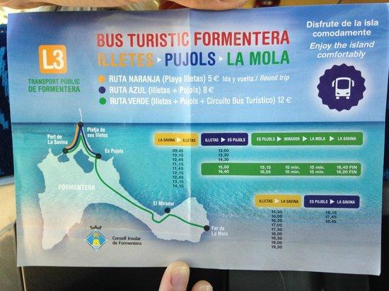 Strand Playa de ses Illetes: Mapa autobuses y precios illetes