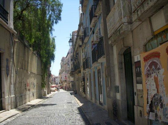 Hotel Portuense: Calle donde se encuentra situada