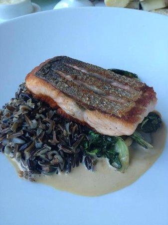 Hob Nob Restaurant : Salmon and wild rice