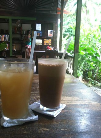 La Botanica Organica Cafe: Ginger lemonade & frozen mocha