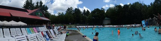 Warren, NH: a panoramic of the pool area