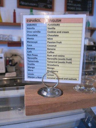 Galapagos Deli : ice cream flavor with English translation