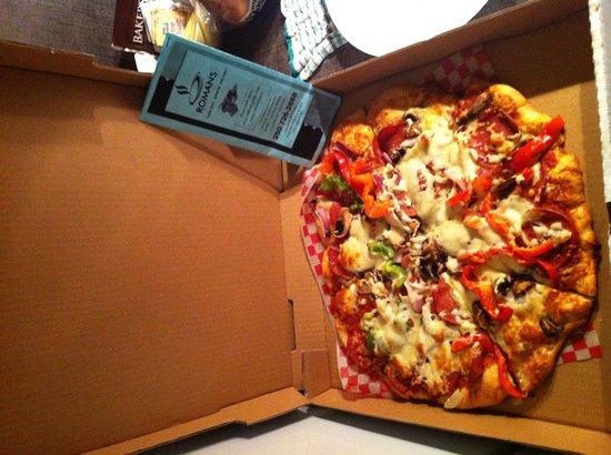 Romans: Delicious large Roman pizza!!!
