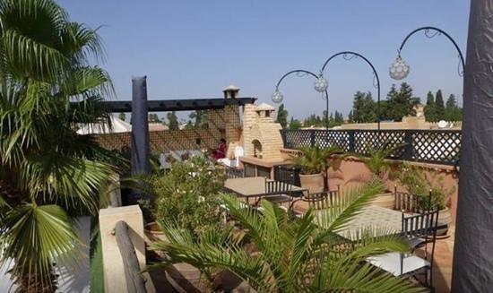 Riad l'Orangeraie : Rooftop courtyard