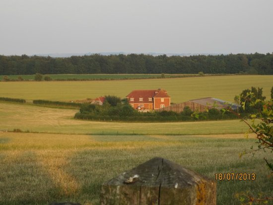 Poulton Grange: view from one of the walking paths