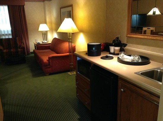 Embassy Suites by Hilton Omaha - Downtown/Old Market: Living area and wet bar