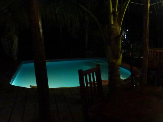 Simple: poor picture of the really cute pool in the back