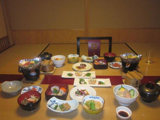 Ryokan Tanabe : The delicious dinner at Tanabe Ryokan