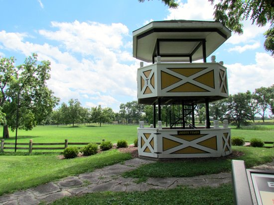 St. James Farm Forest Preserve: Judges tower for steeplechases