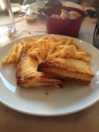 Paris Marriott Charles de Gaulle Airport Hotel : Croque Monsieur