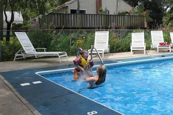 Bowen's by the Bays: My daughter and grandson in pool