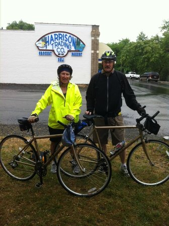 Harrison, ID: Soaking wet, but refreshed after 40 miles