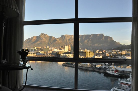 The Table Bay Hotel: First sight - our view.