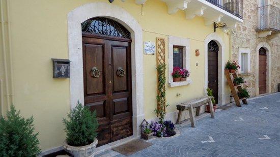 Pretty front entrance to Villa Valsi