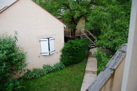 Domaine de la Combotte : The log cabin where you can get spa services